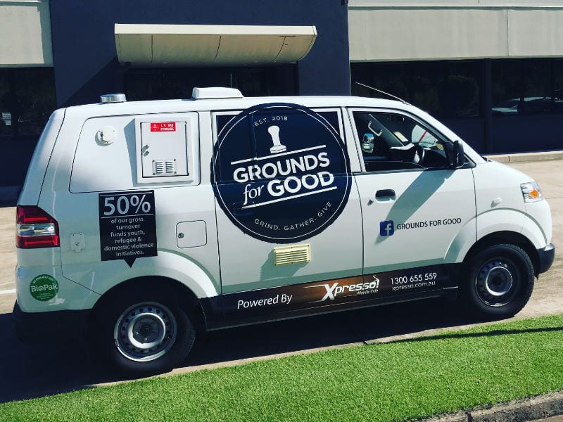 Grounds for Good Van - view