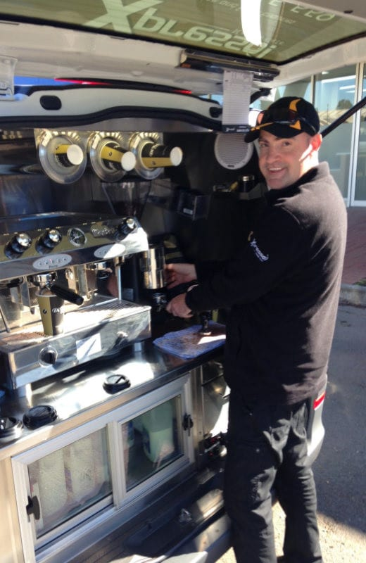 Mobile Coffee Barista - Chris Adelaide