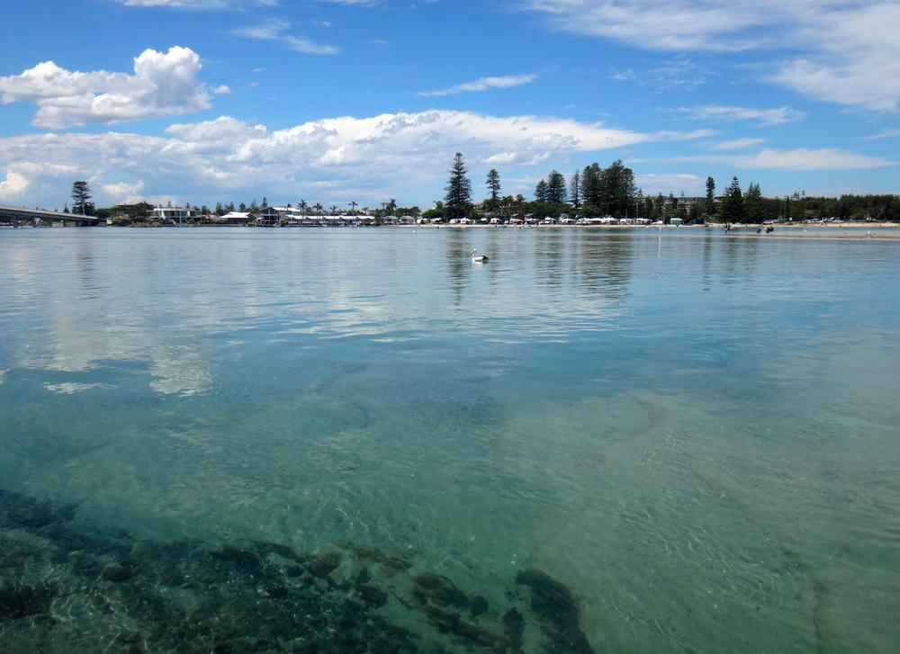 Waterfront scene of The Entrance, NSW Central Coast Australia
